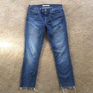 JBRAND frayed cropped skinny jeans